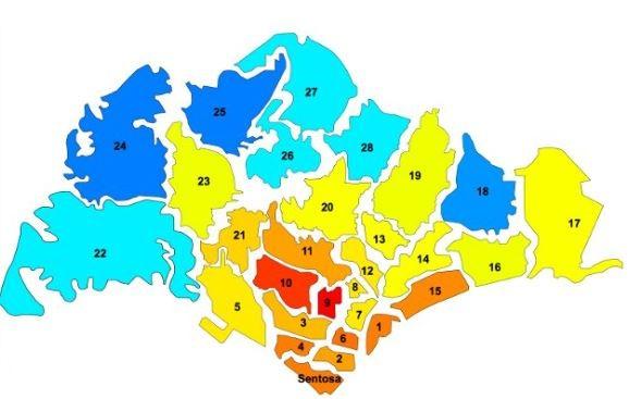 Singapore District Map